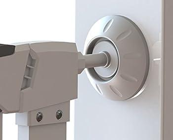 CalMyotis® protection de mur de sécurité pour barrière d'escalier, porte à pression Protège les escaliers, portes, portails et murs (4 pièces)