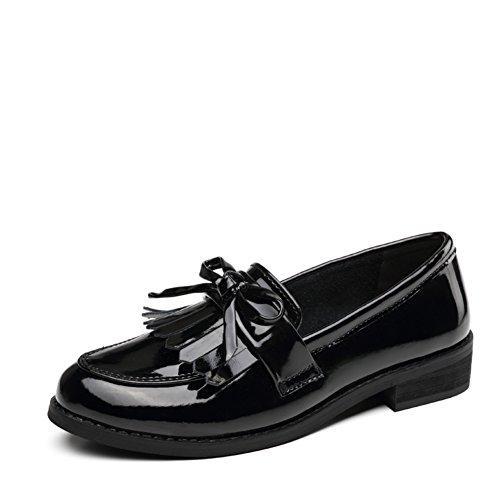 Lumière douce de l'été Chaussures femmes/Version coréenne des chaussures plates en cuir/Les souliers/Chaussures femme A