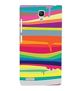 PrintVisa Melting Color Pattern 3D Hard Polycarbonate Designer Back Case Cover for Xiaomi Redmi Note Prime