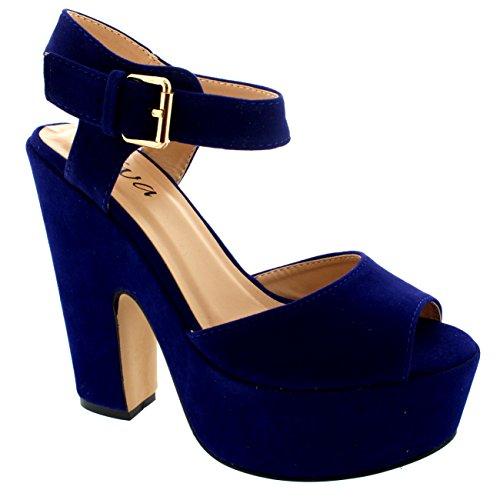 femmes-sangle-de-cheville-chaussures-plate-forme-faux-suede-sandales-cobalt-bleu-38