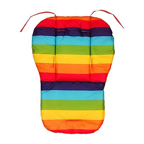 Yosoo Wasserdicht Rainbow Stil Baby Kinderwagen Kissen Pad Pram Polsterung Liner Autositz Pad Buggy Pad Kinderautositz Pad (Type 1)