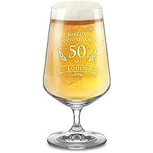 AMAVEL - Verre à bière - Gravure pour Les 50 Ans - Personnalisé avec  Nom eb78c27d3f9