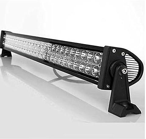 JVJ 32Inch 180W Projecteur LED Feux Longue 60- LED Phare à LED Lampe LED de chantier Lampe de travail Pour Véhicule 4X4 Camion SUV Bateau Chantier 4WD JEEP - combinaison Flood et Spot LED lumière A42