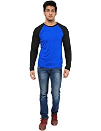 Five Stone Solid Round Neck Navy Blue Coloured With Full Sleeve T-Shirt For Men