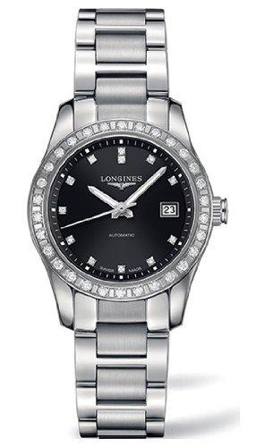 Longines Conquista classico Automatico Diamante Diamante Marcatori Esposizione Back-Orologio da donna