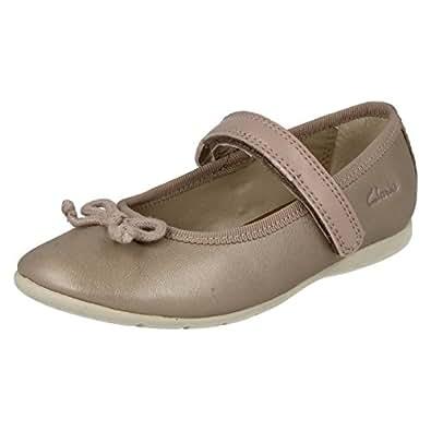 Mädchen Clarks Schuhe Dance Hope, beige - champagnerfarben - Größe: 27 EU F