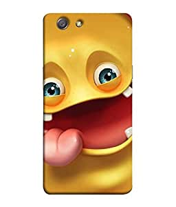 Nextgen Designer Mobile Skin for Oppo Neo 7 :: Oppo A33 (Yellow Smiley Emoticon Expression. happy Cheerful)