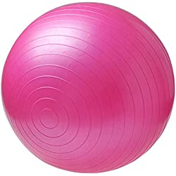 No tóxico Deportes Bolas de Yoga Bola Pilates Gimnasio Gimnasio Equilibrio Ejercicio Fitball Ejercicio Pilates Masaje Bola - Rosa 75CM