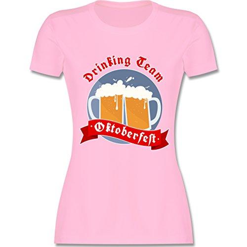 Oktoberfest Damen - Drinking Team - Oktoberfest - tailliertes Premium T-Shirt mit Rundhalsausschnitt für Damen Rosa
