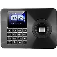 ASHATA Office Time Attendance,Huella Dactilar Máquina,Sistema de Huella Digital,Registrador de Cheques del Empleado Reloj Grabadora Check-in con 2.4 Inch Pantalla TFT (Plug UE.)