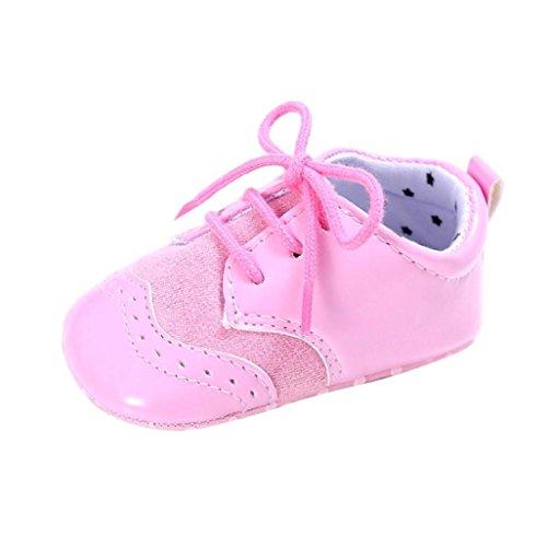 Culater® Bambino neonato ragazze bambino Ragazze morbide scarpe con suola Culla del bambino appena nato Rosa