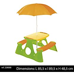 Paradiso Toys - T00759 - Jeu de Plein Air - Table + Parasol
