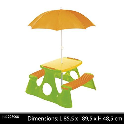 Paradiso Toys T00759 - Jeu de Plein Air - Table + Parasol
