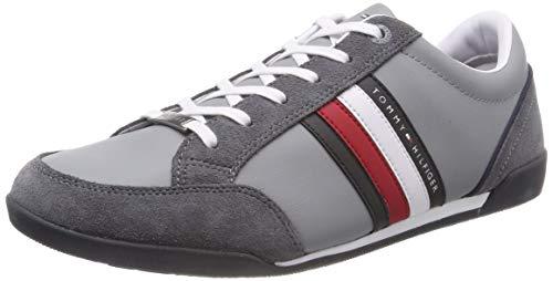 Tommy Hilfiger Herren Corporate Material Mix Cupsole Sneaker, Grau (Steel Grey 039), 42 EU (Tommy Hilfiger Männer Schuhe Grau)