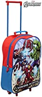 Kids Trolley Cabin Bag Suitcase with Wheels and Telescopic Handle - Ideal for short breaks, holidays, sleepovers and school trips (Avengers)
