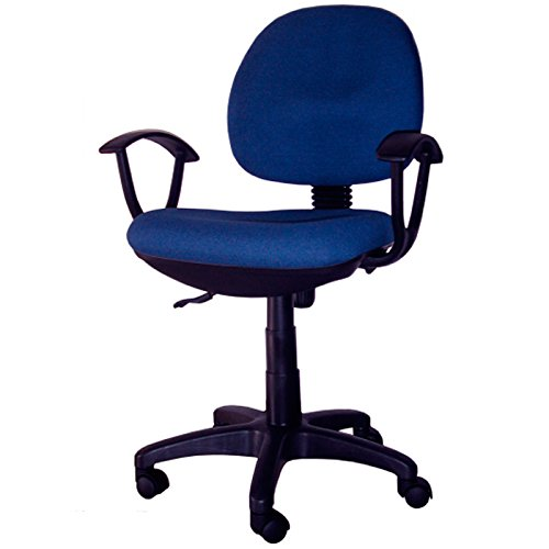 bakaji-office-chair-swivel-chair-with-armrests-5-wheels-for-studio-desk-blue-padded-backrest-and-sea