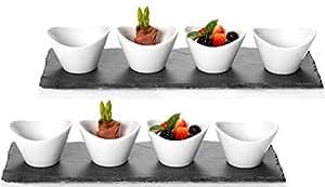 Ritzenhoff breker 311914 scivaro set per aperitivo e for Ardesia per cucinare