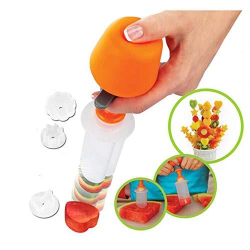 lität u0026 reg; 6 stücke Kunststoff Kuchen Cookie Gemüse Obst Form Cutter Slicer Veggie Mold Set DIY Dekorieren Tools ()