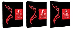 Cupid Female Condoms Vanilla Flavour 3 Packets (6 Pcs)