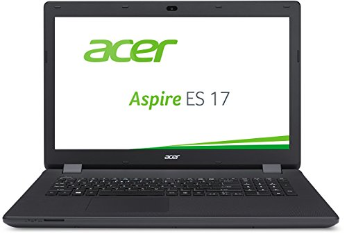 Acer Aspire ES1-731-P1S4 43,94 cm (17,3 Zoll CineCrystal HD) Notebook (Intel Pentium Prozessor N3700,  8GB DDR3L RAM, 1000 GB HDD, Intel HD Graphics, DVD, Win 10 Home 64 Bit) schwarz