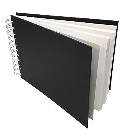 Artway Studio - Carnet à dessin avec reliure double spirale et couverture rigide - papier cartouche sans acide - 170 g/m² - 48 feuilles - A5 paysage