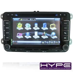HYPE HSB7501SGPS Autoradio 2 DIN GPS 18cm DVD iPod USB SD pour SKODA