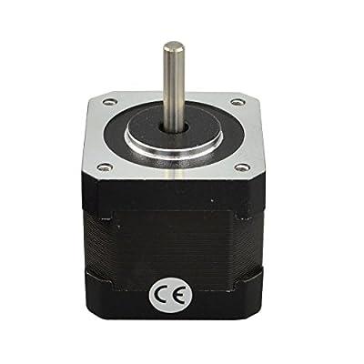 STEPPERONLINE Nema 17 Schrittmotor 45Ncm 1.8deg 1m Kabel mit Stecker für 3D Drucker Reprap Hobby CNC Roboter DE037