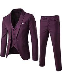 432b4b7de7f diandianshop Men s Suit Slim 3-Piece Suit Blazer Business Wedding Party  Jacket Vest   Pants