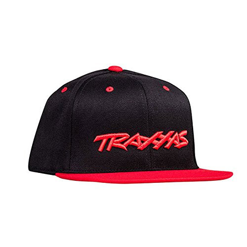 Traxxas Snap Hat Flat Bill Black Red -