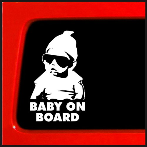 Carlos Hangover Baby on Board'Auto-Aufkleber, vinyl (Racing Honda Civic)