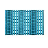 XUEPING Badematte,Badteppiche,Duschmatte, Rutschfester Badvorleger, Saugnapf Für Badewanne Hohlmatte 3 Farben 40 * 63 cm (Farbe : Blau)