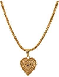Jewar Mandi Chain 24 inch Gold Plated with Golden Locket Real Look Stylish New 6587 for Women Men