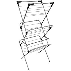 Vileda Sprint 3-Tier Indoor Airer, Steel Silver, 6 x 68 cm