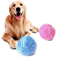 Coomir Mini Fluffy Automatic Roller Ball Dog Toy Cat Pet Toy Household Mop Ball Dust Cleaner