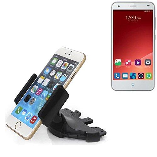 Ranura de CD Smartphone Soporte para ZTE Blade S6 | soporte de coche de uso general para los dispositivos de navegación / los teléfonos inteligentes para el montaje en la ranura de CD de la radio del coche. El soporte 360 ??es libremente ajustable. El dispositivo de agarre es adecuado para todos los teléfonos móviles de hasta 90 mm de ancho. Soporte para coche ranura de CD, ranura de CD del coche del soporte Coches, hecho para el smartphone, teléfono móvil, la navegación / GPS