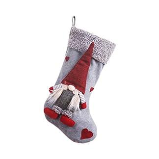 Ycncixwd Calcetín navideño de regalo con forma de Papá Noel con forma de gnomo sueco para decoración del hogar