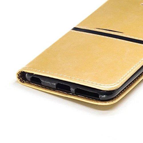 EKINHUI Case Cover Für Appple IPhone 6 & 6s Fall Abdeckung Premium TPU / PU Ledertasche Magnetische Verschluss Nähen Matte Oberflächen Fall Mit Geldbörse & Halter & Foto Frame & Card Slots ( Color : A B