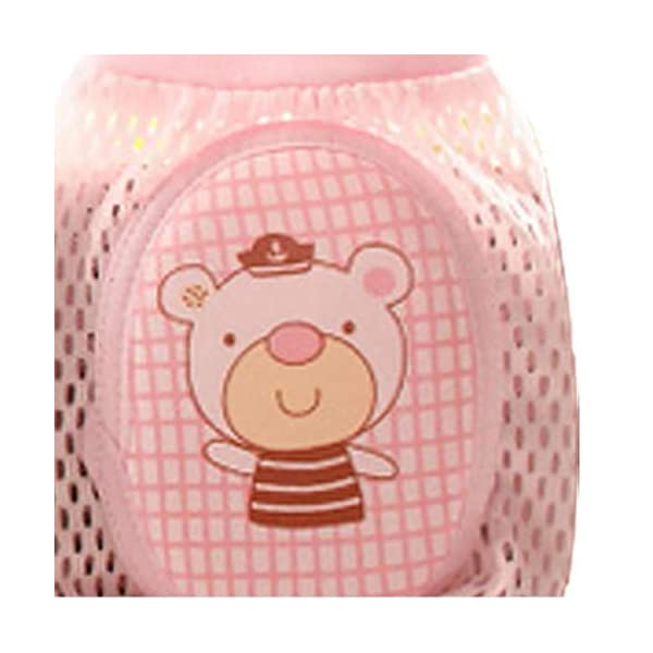 Rodilleras Del Bebé Bebé De Arrastre Ajustable Cojín Protector Transpirable Bebés Seguridad De Arrastre Del Codo Niños… 3