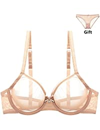 feb8b3194ff9a Varsbaby Women See-through Lace Push Up Transparent Everyday Bra Lingerie  sets