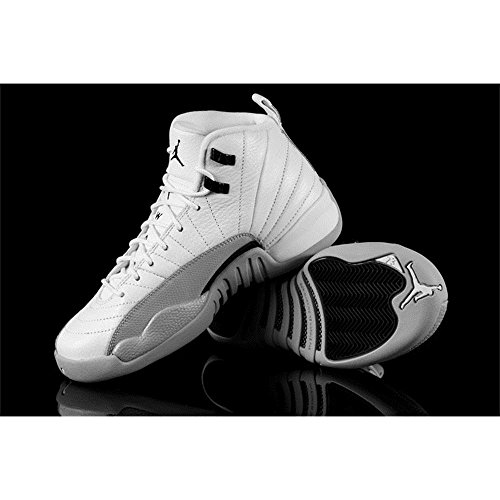 Nike  Air Jordan 12 Retro Gg, espadrilles de basket-ball fille white