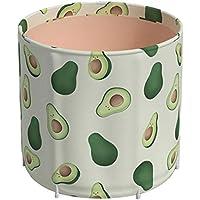 Bañera La Bañera Plegable For Adultos Completo Cuerpo Japonesa Tina De Baño For Adultos Puede Acomodar Plegable De La Piscina Grande, 3 Capas Gruesas (Color : Blanco, Size : 65 * 70)