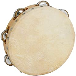Atlas 8 Inch Skin Single Jingle Tambourine