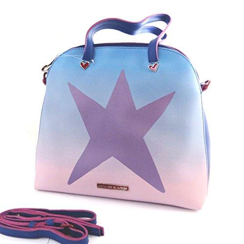 Agatha Ruiz de la Prada M9685 - Sac créateur bleu violet (étoile)