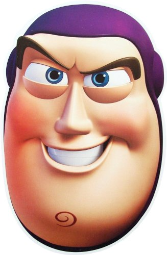 Toy Story Buzz Lightyear - Card Face Mask (Erwachsene Buzz Lightyear-maske)