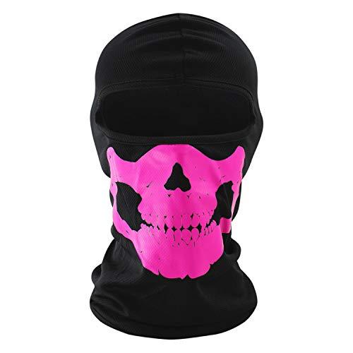 Libertepe Masque de Crâne Masque de Visage Cagoule Squelette Coupe-Vent Ghost de Déguisement pour Jeux Halloween Vélo VTT Moto