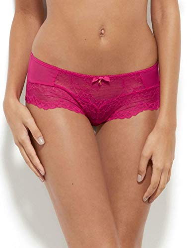 Gossard 7714 Women's Superboost Lace Bright Rose Pink Knicker Shorties Boyshort XSmall (Boyshort Rose Lace)