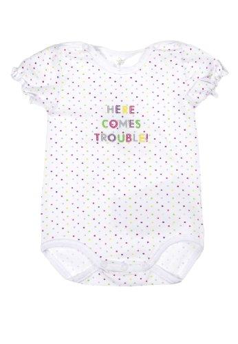 Kanz Baby - Mädchen Body 1/4 Arm 1436703, Gepunktet, Gr. 56, Mehrfarbig (Bright White White 1000)