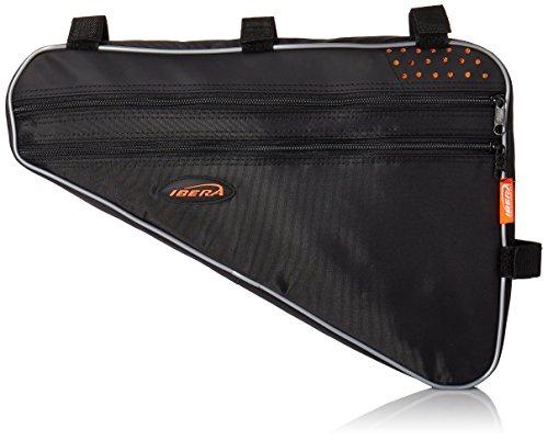 Ibera Fahrrad-Rahmentasche, Fahrradtasche Triangle Bag, Bicycle Triangle Frame Bag  Large schwarz / orange