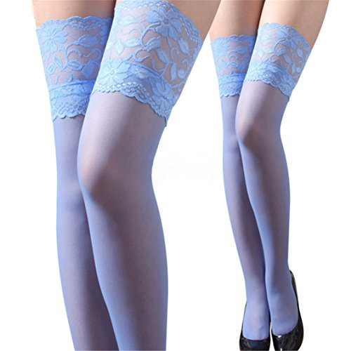 Dot Strumpfhose (Bellelove Frauen Sexy Sheer Lace Big Dot Strumpfhosen Strümpfe Strumpfhosen Punkte Socken (Blau))