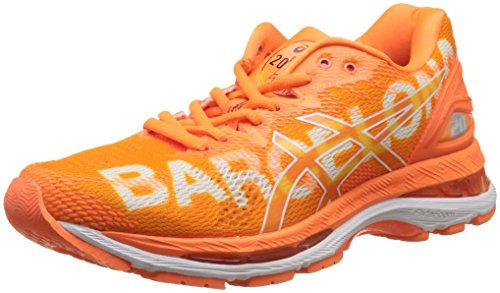 Asics Gel-Nimbus 20 Barcelona Marathon, Zapatillas de Running Para Mujer, Naranja (Shocking Orange/Shocking Orange/White 3030), 42.5 EU